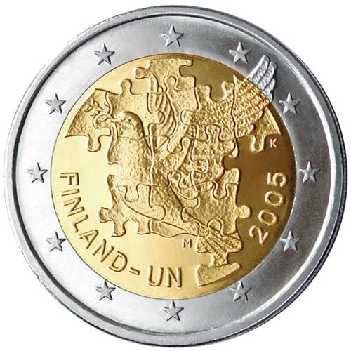 Finland 2€ 2005 60th Anniversary of the U.N.