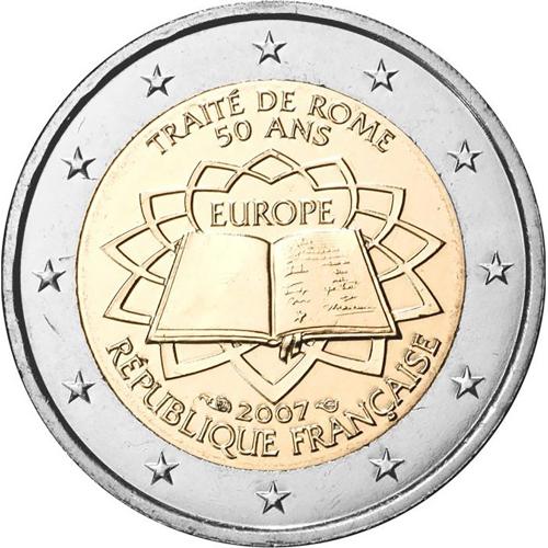 França 2€ 2007 Tratado de Roma