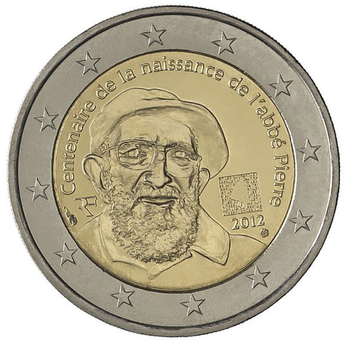 France 2€ 2012 Abbé Pierre