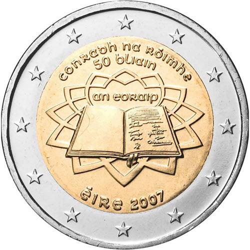 Irlanda - 2€ 2007 Tratado de Roma