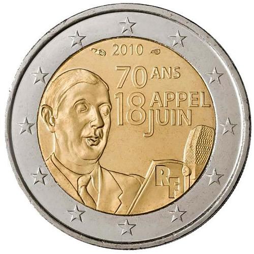 França 2€ 2010 Charles de Gaulle