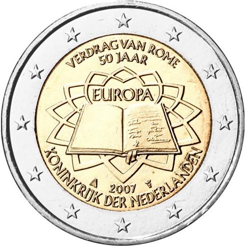 Holanda 2€ 2007 Tratado de Roma