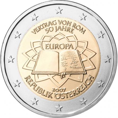 Austria 2€ 2007 Tratado de Roma