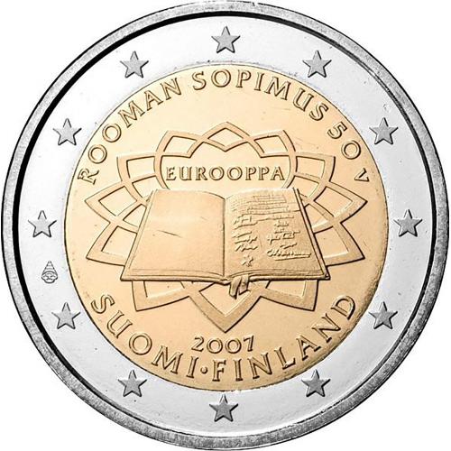Finlândia 2€ 2007 Tratado de Roma