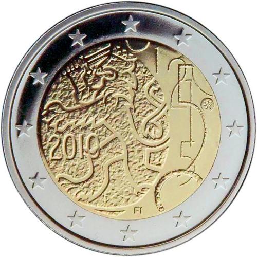 Finlândia 2€ 2010 150 Anos da Moeda Finlandesa