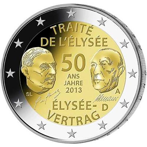 Germany 2€ 2013 Élysée Treaty