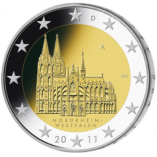 Germany 2€ 2011 Westfalen