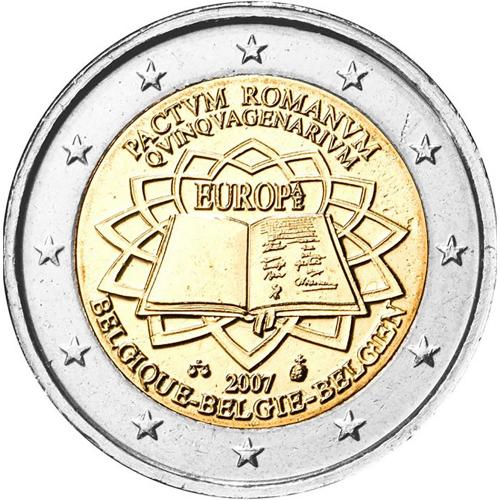 Bélgica 2€ 2007 Tratado de Roma