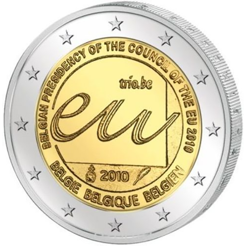 Belgium 2€ 2010 Presidency of the  E.U.