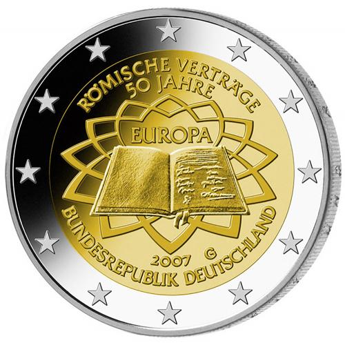 Alemanha 2€ 2007 Tratado de Roma
