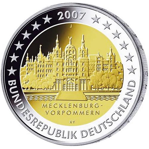 Germany 2€ 2007 Schwerin Castle