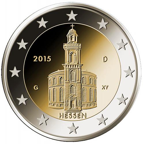 Alemanha 2€ 2015 Igreja de S.Paulo