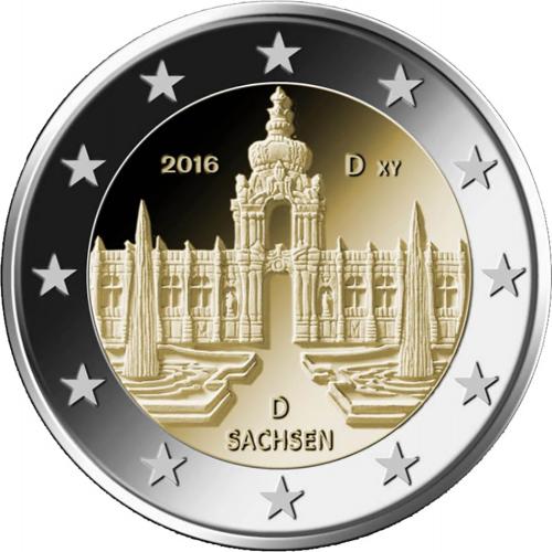 Germany 2€ 2016  Dresden Palace