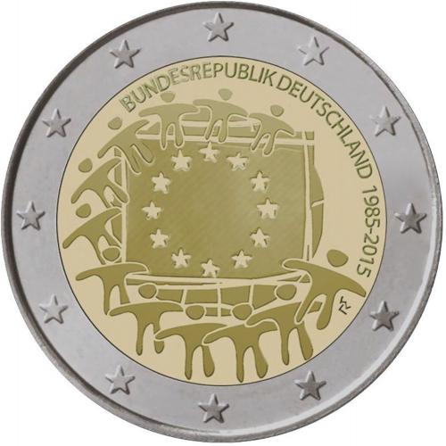Alemanha 2€ 2015 30 anos Bandeira da Europa
