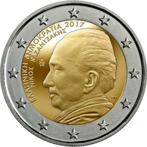 Grécia 2 € 2017 (Nikos Kazantzakis)