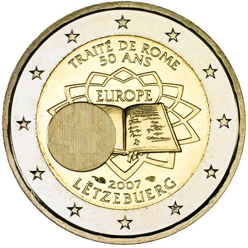 Luxembourg 2€ 2007 Treaty of Rome