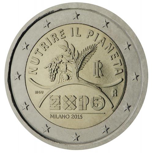 Italy 2€ 2015 Expo Milan