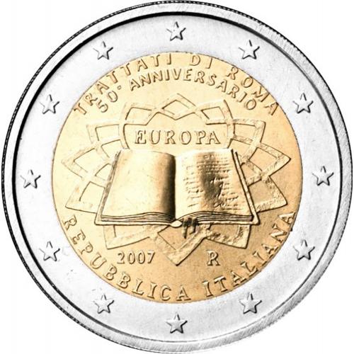 Itália 2€ 2007 Tratado de Roma