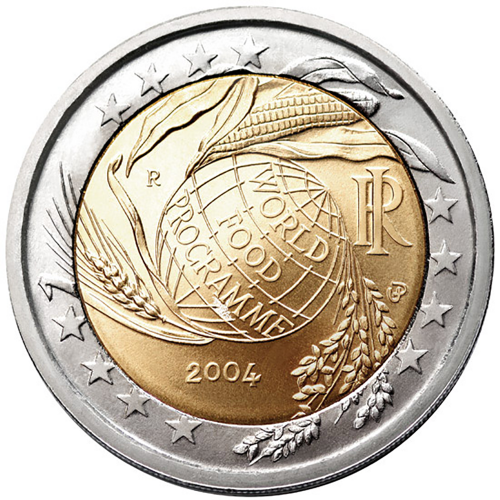 Itália 2€ 2004 Programa Alimentar