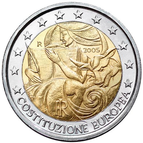 Itália 2€ 2005 Constituição Europeia