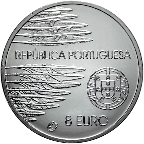 Portugal 8€ 60 years Peace and Freedom