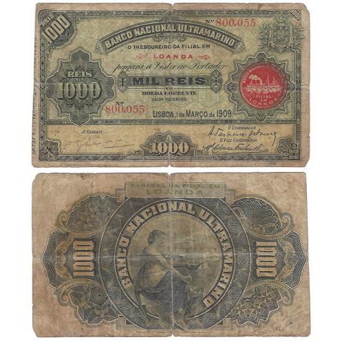 Angola 1000 Reis 1909
