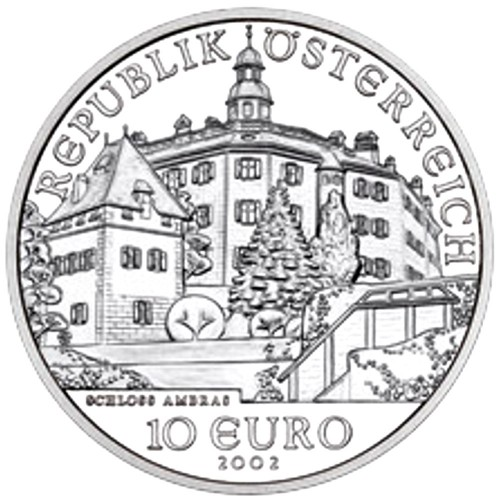 Austria 10€ 2002 Ambra Castle