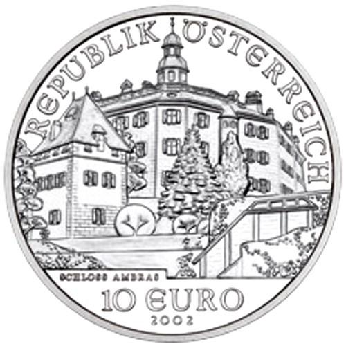 Austria 10€ 2002 Castelo de Ambras