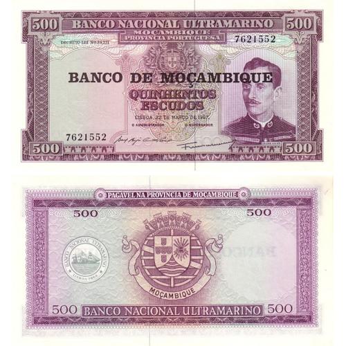 Moçambique 500 Escudos 1967 (1976)