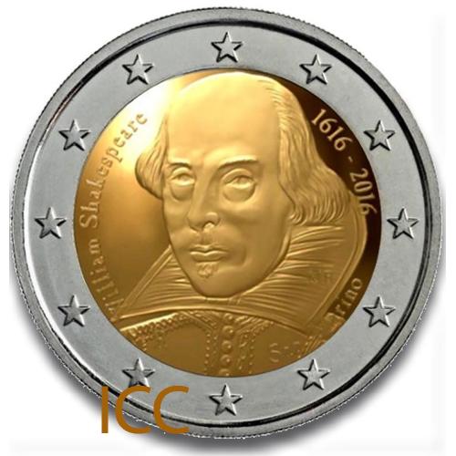 San Marino 2€ 2016 Shakespeare