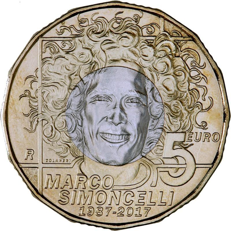 San Marino 5€ 2017 (Marco Simoncelli)