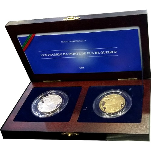 Proof 500$00  Eça de Queiroz ( Set of 2 Coins ) 1999