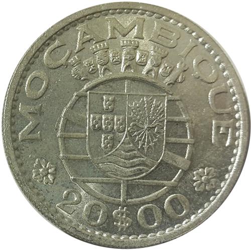 Mozambique  20$00 1960