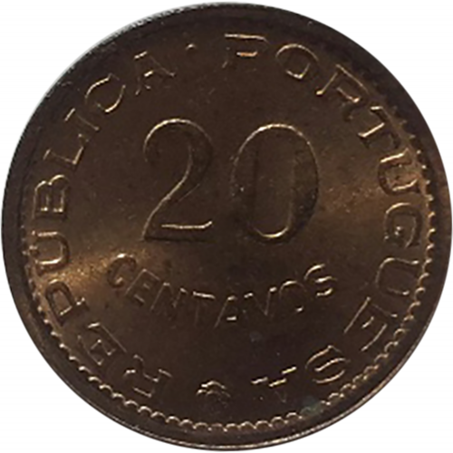Mozambique 20 Centavos 1974
