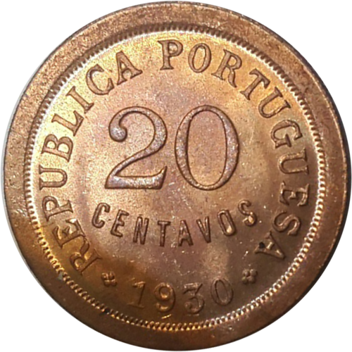 Cabo Verde 20 Centavos 1930