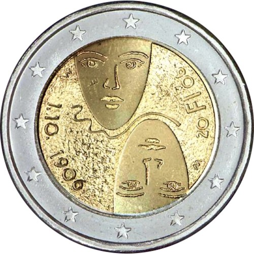 Finland 2€ 2006 Equal suffrage