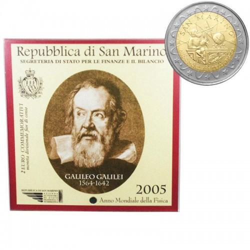 San Marino - 2€ 2005 (Galileo Galilei)