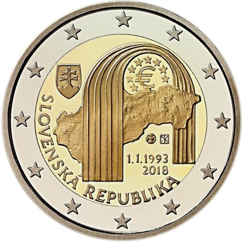 Slovakia - 2€ 2018 (25th Slovakia Republic)