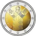 Letónia 2€ 2018 (100 Anos dos Est. Bálticos)