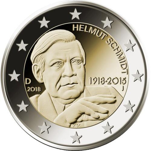"Alemanha 2 euro 2018 ""Helmut Schmidt"""