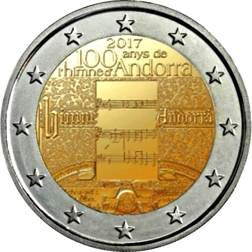 Andorra 2€ 2016 (25th Anniv. of the Radio and the TV)