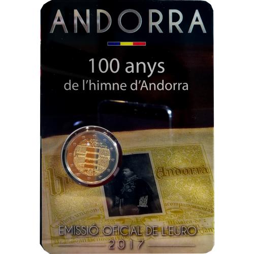 Andorra 2€ 2017 (Hino Nacional)