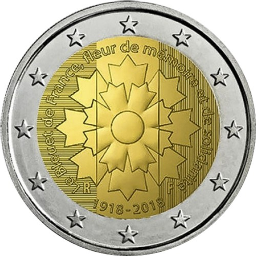 França 2€ 2018 (Cornflower)