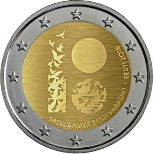 Estonia 2€ 2018 (100 Years of the Independence)