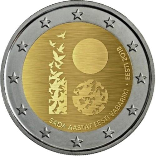 Estónia 2 euros 2018 100 Anos da Independencia