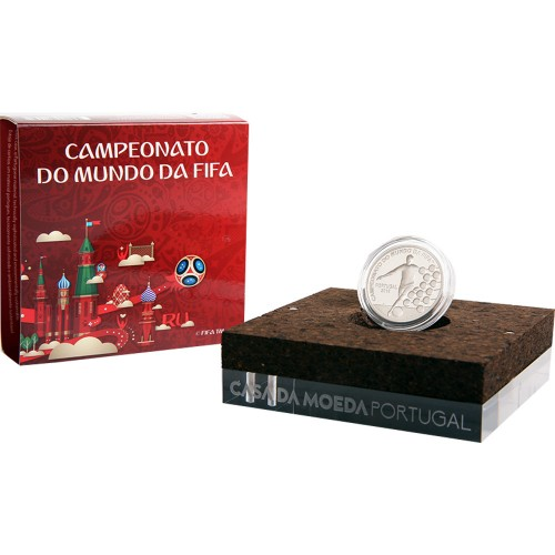 Portugal  - 2.50€  2018 Campeonato do Mundo Fifa 2018 (Prata Proof)