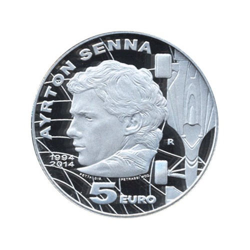 San Marino - 2014 5 Euro (Ayrton Senna) Silver Proof