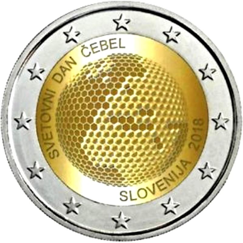 Eslovénia 2 euros 2018 Abelha