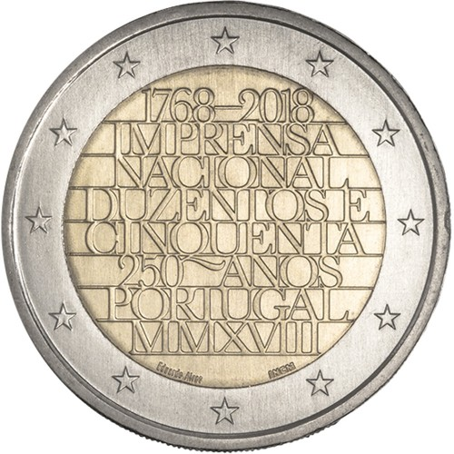 Portugal  2,00€ 2018 THE NATIONAL PRINTING OFFICE
