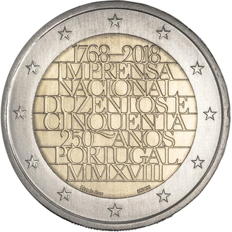 Portugal  2 euros 2018